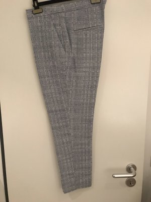 H&M Pantalón tipo suéter blanco-azul oscuro
