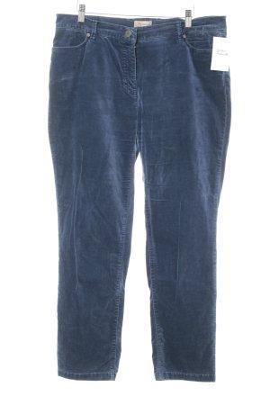 Pantalone jersey blu acciaio stile casual