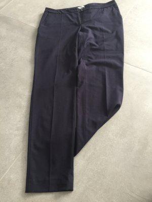 Stoffhose straight dunkelblau von H & M