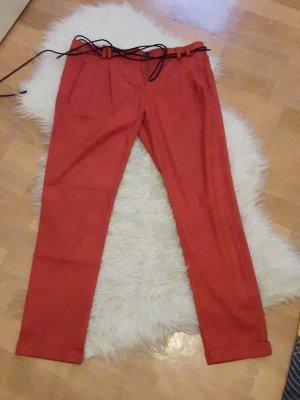 Please Pantalone jersey arancione scuro-ruggine