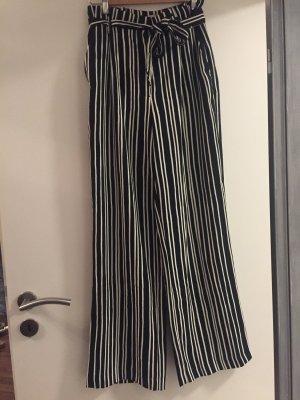 Stoffhose: Weitausgestellte Paperbag Hose, lang