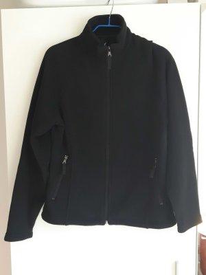 Stoffjacke schwarz, mit Reißverschluss von Crane