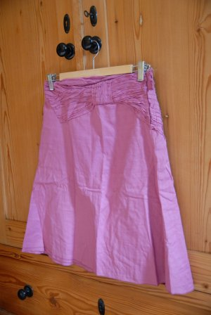 Mango Broomstick Skirt magenta cotton