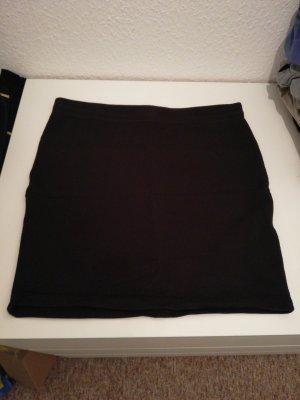 Stoffrock schwarz schlicht kurz