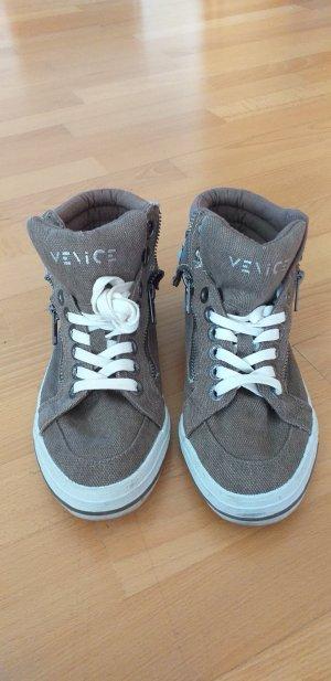 -8- Venice Sneakers met veters lichtbruin