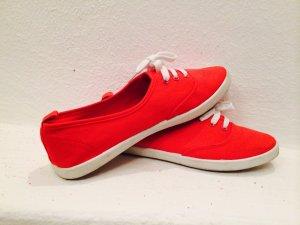 Stoffschuhe rot Größe 37