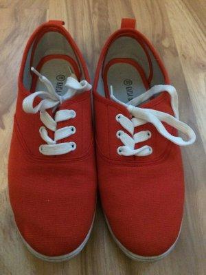 Stoffschuhe Schuhe rot Größe 39 wie neu Schuhe Turnschuhe