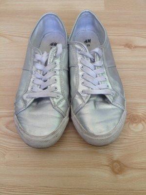 Stoffschuhe/Sneaker Silber