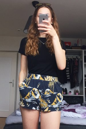 H&M Short taille haute multicolore