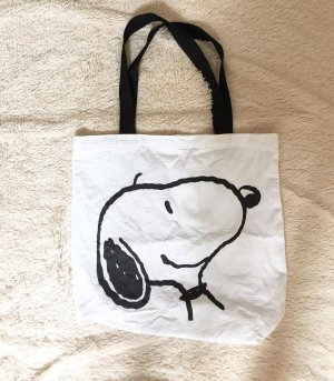 Canvas Bag white-black cotton