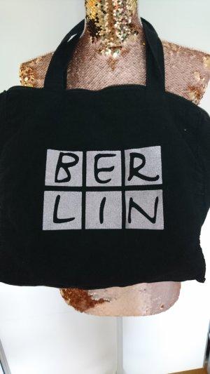 Canvas Bag black-silver-colored