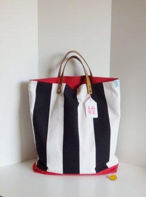 Stofftasche Shopper Schwarz Weiß Rot *Neu*