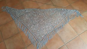 Crochet Scarf silver-colored-light grey
