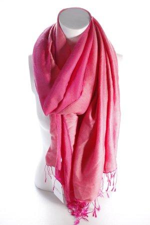 Chal rosa Adorno de flecos