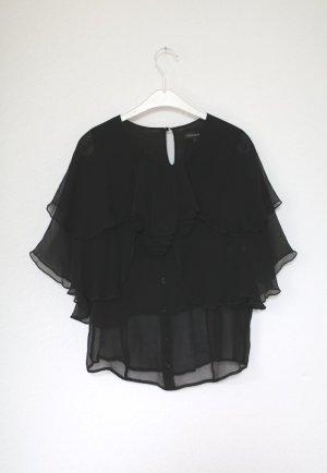 Stolen Girlfriends Club Bluse Seide Gr. 38 schwarz Vintage Stil