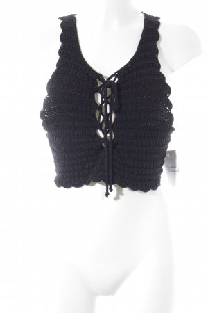 Stolen Hearts Knitted Top black casual look