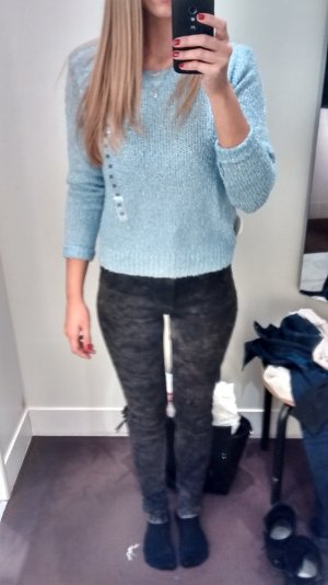 Stone washed jeans grau H&M