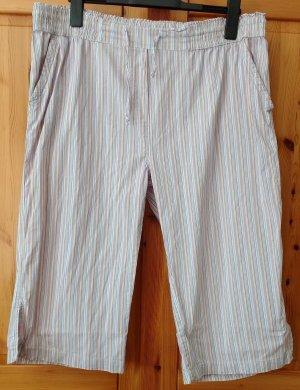 STOOKER Capri Hose Baumwolle - weites Bein - Streifen gestreift Gr. 48
