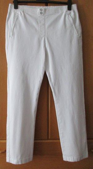 STOOKER Damen Schlupfhose Hose weiß  Baumwolle Stretch Gr. 48