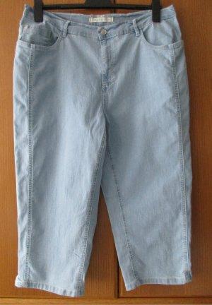 STOOKER: Damenjeans Caprihose Jeans Gr. 48 Normalgröße hellblau