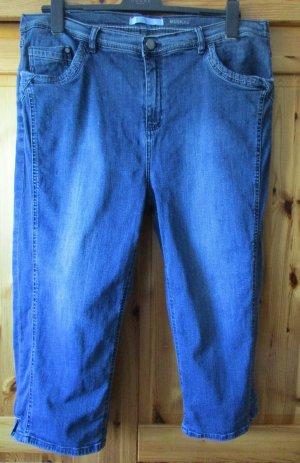 STOOKER: Damenjeans Caprihose Jeans Gr. 50 Normalgröße Dunkelblau