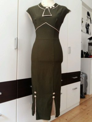 Stop Staring 30's Bombshell dress in Army Green