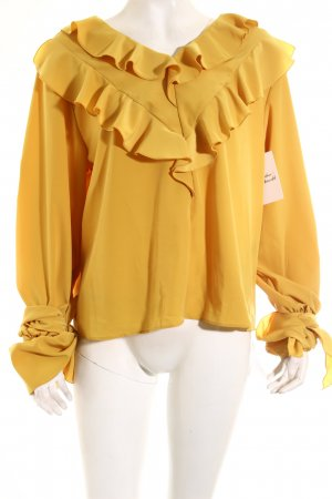 Storets Bluse dunkelgelb-goldorange Party-Look