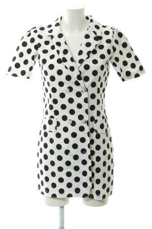 Storets Blusenkleid schwarz-weiß Punktemuster Casual-Look