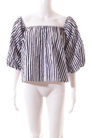 Storets Carmen-Bluse dunkelblau-weiß Streifenmuster Street-Fashion-Look