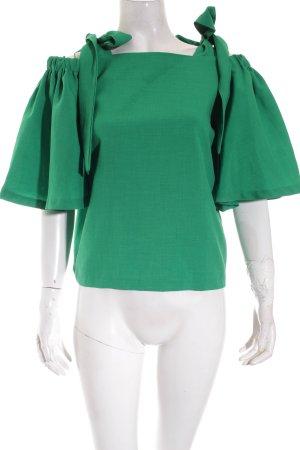 Storets Carmen-Bluse grün Street-Fashion-Look