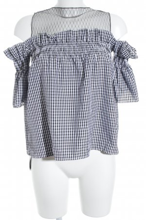 Storets Carmen Blouse black-white check pattern casual look