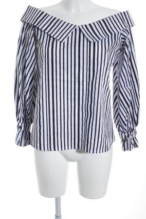 Storets Carmen-Bluse schwarz-weiß Streifenmuster klassischer Stil
