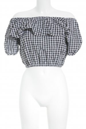 Storets Carmen Blouse white-black check pattern casual look