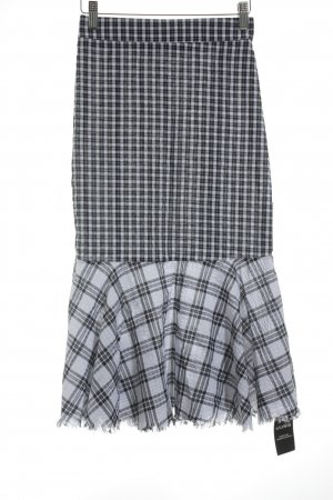 Storets Godetrock weiß-schwarz Karomuster Street-Fashion-Look