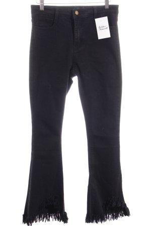 Storets Jeans a vita alta nero
