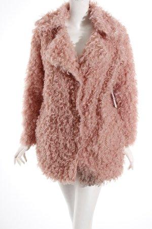 Storets Kunstfelljacke rosa extravaganter Stil