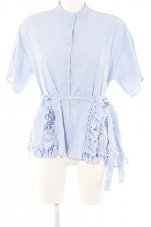 Storets Kurzarm-Bluse Streifenmuster Casual-Look