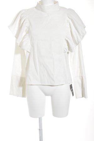 Storets Langarm-Bluse creme Romantik-Look