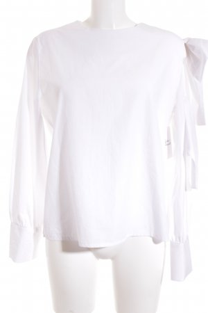 Storets Langarm-Bluse weiß Street-Fashion-Look