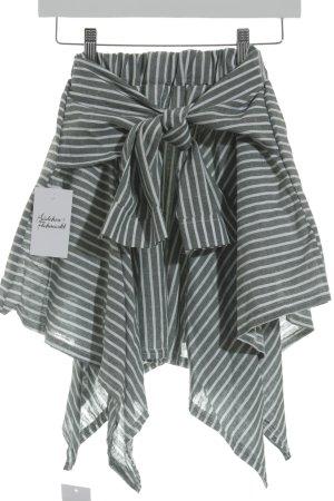 Storets Minirock weiß-grün Streifenmuster Street-Fashion-Look