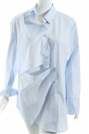 Storets Blusa ancha azul celeste look Street-Style