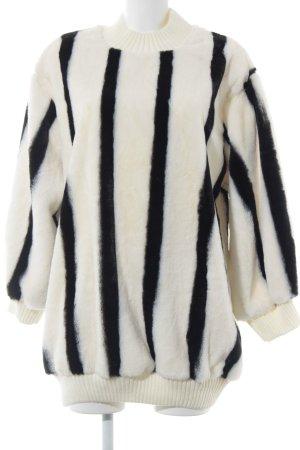 Storets Oversized Pullover schwarz-weiß Streifenmuster Casual-Look