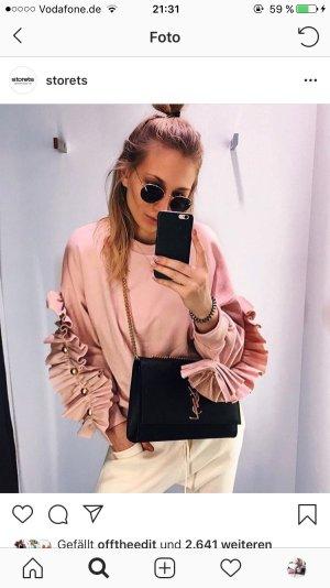 Storets Rundhalspullover rosé Kuschel-Optik