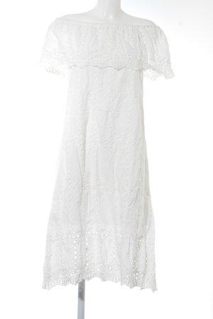 Storets Spitzenkleid weiß florales Muster Elegant