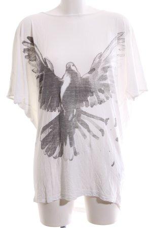 Storm & Marie Oversized shirt wit-lichtgrijs prints met een thema