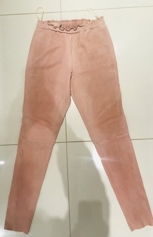 Leather Trousers light pink leather