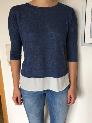 Stradivarius T-shirts en mailles tricotées bleu