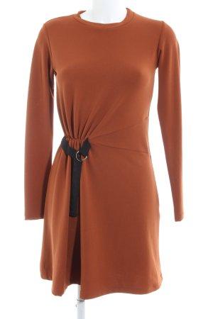 Stradivarius A-Linien Kleid hellorange Elegant