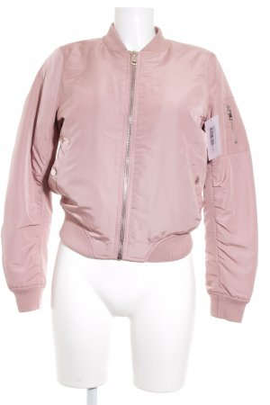 Chaqueta de cuero rosa stradivarius