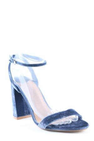 Stradivarius High Heel Sandal blue elegant